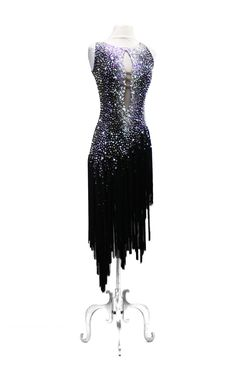 SIZE: M black w/ long black fringes skirt
