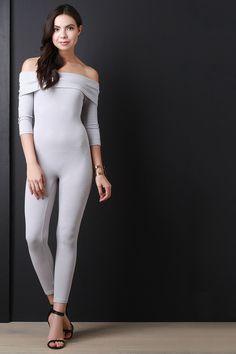 a78c9d57853b Description This jumpsuit features a ribbed knit fabrication