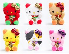 hello kitty lucky plushies <3 i want the calexico one!