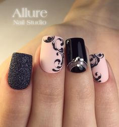 Gel Nail Designs You Should Try Out – Your Beautiful Nails Trendy Nail Art, Stylish Nails, Nail Art Diy, Beautiful Nail Designs, Beautiful Nail Art, Nail Manicure, Diy Nails, Nail Art Arabesque, Lace Nails