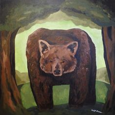 Forest wanderer- a big brown bear whose king of the deep forest