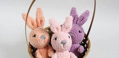 Enjoy an adorable Easter bunny plush! It's easy to make and this FREE amigurumi pattern can be made in just a few hours. Get the crochet bunny pattern! Crochet Bear Patterns, Crochet Bunny Pattern, Plush Pattern, Free Pattern, Marley Crochet, Crochet Snowman, Bunny Plush, Christmas Gnome, Crochet Christmas