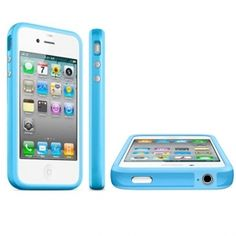 Apple iPhone 4 Bumper Blue Original Iphone 4, Apple Iphone, Iphone Cases, Gadget, The Originals, Green, Blue, Products, Iphone 4s