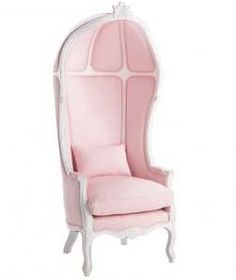 Great pastel pink chair for a fairy queen to alight upon.