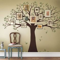 New Living Room Home Decor Family Tree Portrait Display Wall Decal For Pictures #SimpleShapes