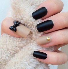 Black nail art❤️