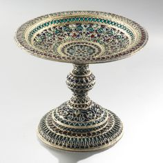 A Russian Gilded Silver and Plique-à-Jour Enamel Tazza, Ivan Saltykov, Moscow, circa 1910