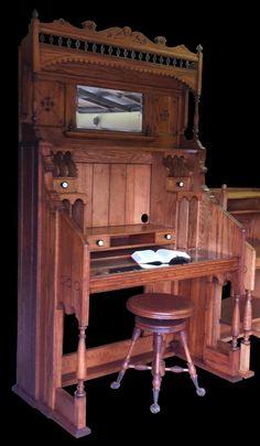 Computer Desk Restoration from 1915 Kimball Pump Organ