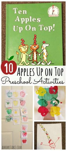 10 Apples Up on Top Preschool Activities - crafts, recipes, kids activities, and fun ideas for your prek or kindergarten child. Perfect for paring with a read-aloud of this Dr. Seuss classic. Plus, a free printable activity! via /amomstake/