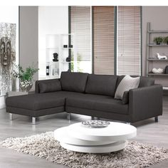 Click to zoom - Lille left hand corner sofa charcoal