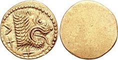 25 assi - oro - Populonia (Popluna) Etruria (211-206 a.C.- seconda guerra punica) - recto: testa leonina a destra, verso: liscio