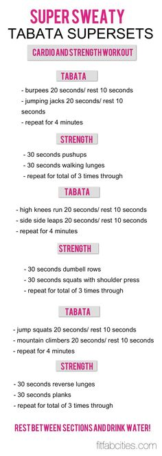 At home Tabata workout