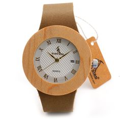 Women's Maple Wood Watch With White Dial //Price: $41.98 & FREE Shipping //     #hashtag2
