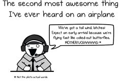 The second most awesome thing I've ever heard on an airplane - The Oatmeal