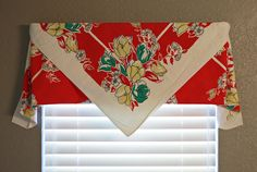 vintage tablecloth curtain - no cut or sew