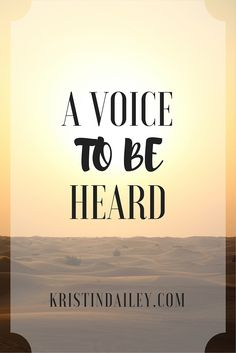 When I was forced into an environment where I had to speak, not much changed. I still sat silent, a prisoner to fear. But I have realized my authority, as did King George VI, for I have a voice. | KristinDailey.com
