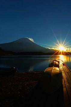 Perfect lake sunset.