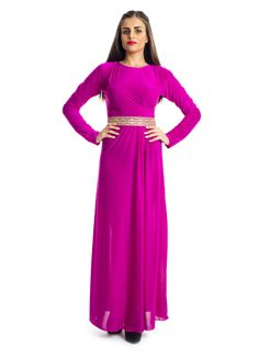 Step up your wardrobe with a blend of modern and traditional style in this classy maxi dress by Xela! It features a Sangria maxi dress made into a trimmed down to a round neckline with sheath silhouettes and contrast belt on waist to give you that elegant look. This dress makes an ideal choice for social gathering.