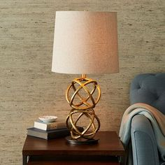 West Elm offers modern furniture and home decor featuring inspiring designs and colors. Create a stylish space with home accessories from West Elm. West Elm, Cordless Lamps, Contemporary Table Lamps, Modern Table, Brass Table Lamps, Brass Lamp, Bedroom Lamps, Diy Bedroom, Home Lighting