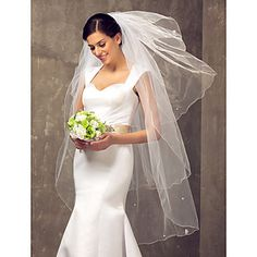 Four-tier+Fingertip+Wedding+Veil+With+Pencil+Edge+–+USD+$+14.54