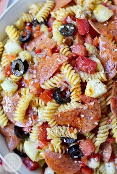 The BEST Pasta Salad is an old family recipe. Simple and simply the best (easily made gluten-free, too!) #glutenfree | http://iowagirleats.com
