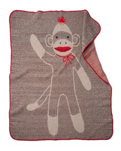 Uncommon Goods Sock Monkey Blanket ($40)