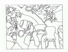Masterpiece Coloring Page--Free printable-Paul Gauguin - The Vision After the Sermon