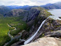 Litlverivassforsen in Rago National park, Nordland, Norway.