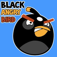 Step 400x400 black angry birds1 How to Draw Black Angry Bird with Easy Step by Step Drawing Tutorial