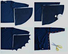 DIY Last Minute Halloween Costumes Leggings Are Not Pants, Black Leggings, T Shirt Hacks, Trash To Couture, Bat Costume, Long Sleeve And Shorts, Last Minute Halloween Costumes, Black Mask, Sewing Basics