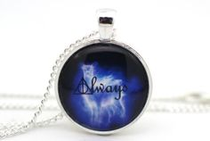 Deathly Hallows 'Always' Snape's Silver Doe Patronus, Harry Potter Necklace