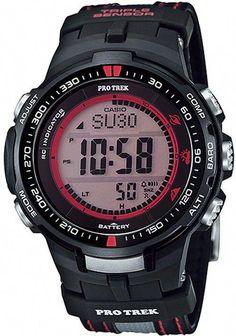 a46be9357e9 Casio Protrek Digital Atomic Tough Solar Triple Sensor PRW-3000G-1D Watch