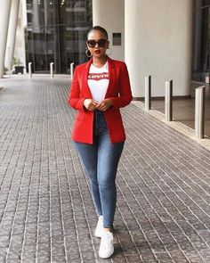 Fashion 2019 New Moda Style - fashion Casual Sporty Outfits, Blazer Outfits, Business Casual Outfits, Classy Outfits, Chic Outfits, Casual Chic, Casual Wear, Trendy Outfits, Fashion Outfits