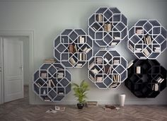 Arabesque shelves by Younes Duret
