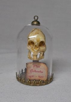 Dolls house miniature Skull in Dome of Count Vlad Dracula the Vampire