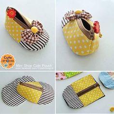 #mini #shoe #coin  #purse #baby #Fabric #cotton #Thailand  #Bangkok #handmade #tutorial #happy #sewing  #pattern  #กระเป๋าใส่เศษสตางค์ #รองเท้า Line » cute_among_us FB » cute among us