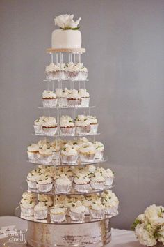 definitely thinking about a cupcake tower for my reception Cupcake Tier, Fondant Cupcake Toppers, Cupcake Cookies, Cookie Cakes, Rose Cupcake, Wedding Cake Cookies, Wedding Cakes With Cupcakes, Pink Cupcakes, Valentine Cupcakes
