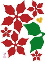 """paper poinsettia christmas flower free download template  NOTE: In order to be able to print: right click your mouse on the image, """"save image as"""" to download this free eri*doodle poinsettia for your crafts and scrapbooking."""""""