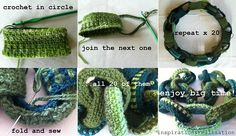 crocheted link scarf tutorial