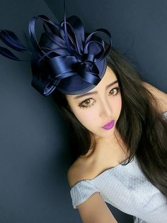 Vintage Cocktail Hats Dark Navy Blue Occasion Hats 2015 Winter New Arrival Feather Tulle Kate Middleton Hat Bridal Hat Cocktail Prom Evening Formal Women Hats Vintage Hat With Veil From Yf_one, $30.37| Dhgate.Com
