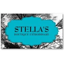 Clothing Boutique Trees Retail Business Cards #EasyNip