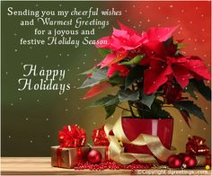 Happy holidays..