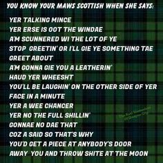 Brought to us by The Housewives of Glasgow City! Scottish Toast, St Andrews Cross, Scottish Quotes, Gaelic Words, Oliver Wood, Scottish Culture, Scotland History, Glasgow City, Say That Again