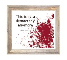 The Walking Dead - This Isn't a Democracy Anymore - Rick Grimes Quote - Counted Cross Stitch Pattern - Instant Download by Valethea on Etsy