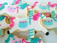 Carousel Horse  Sugar Cookies 1/2  Dozen by acookiejar on Etsy, $24.95