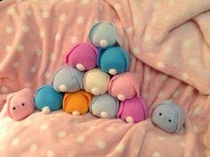 Puff bunny plush