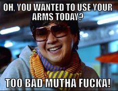 Crossfit humor. Horrifically arm and shoulder intensive 3 AMRAP WOD!