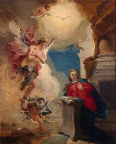The Annunciation - Tiepolo Giovanni Battista