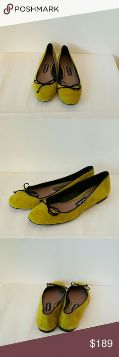 Tom Ford Flats Tom Ford Suede Round Toe Flats; Lime Tom Ford Shoes Flats & Loafers
