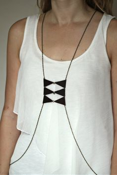 Triangles and Ladders Body Harness by mooreaseal on Etsy, $45.00
